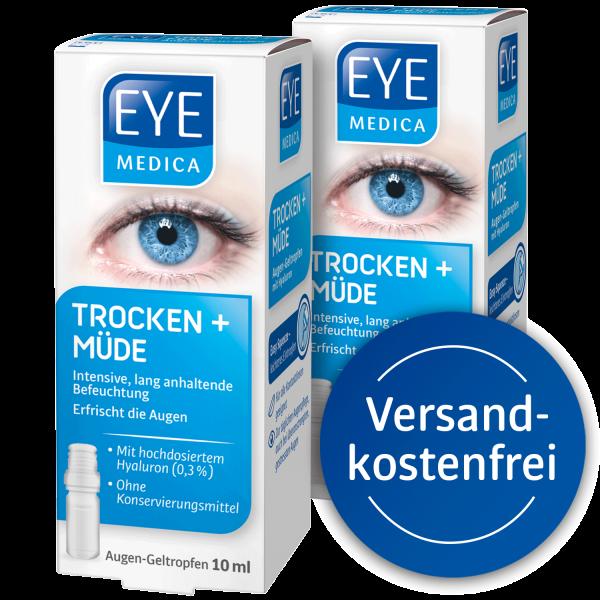 EyeMedica Trocken und Müde Augentropfen im Doppelpack + Störer